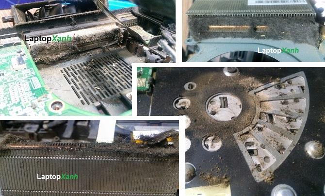Laptop sau 1 năm sử dụng bám đầy bụi bẩn bên trong và vi khuẩn, gây hư hỏng và nóng máy.