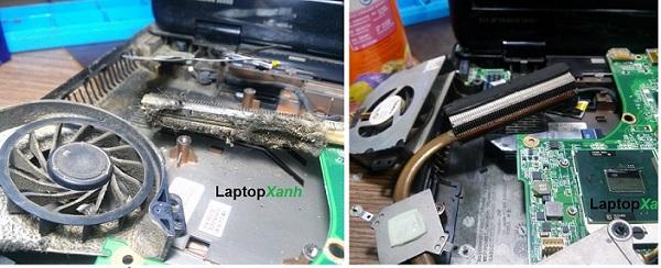 Trước và sau khi vệ sinh laptop