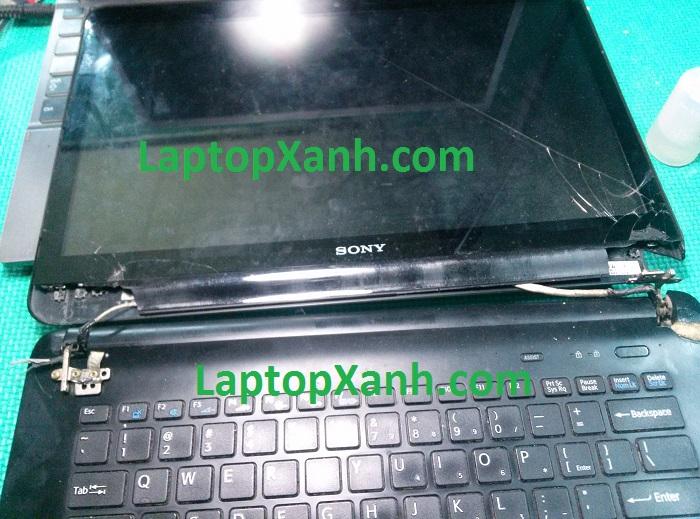 Laptop Sonyvaio đã sữa chữa tại nơi khác 1 thời gian rồi gãy lại, LaptopXanh phục hồi được tới 80%